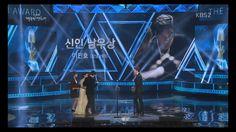 Lee Min Ho's accepting award, 52nd Daejong film awards, 20151120.