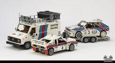 Lancia Delta Integrale, Fiat Ducato, Martini Racing, Car Trailer, Team Pictures, Lego Moc, Lego Technic, Lego Pieces, Rally Car