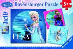 Anyone who loves Disney's Frozen will love this or any of the other Frozen-themed jigsaw puzzles, which are available for puzzlers from 3 to 103! Frozen Movie, Disney Frozen Elsa, Frozen Merchandise, Elsa Olaf, Movie Gift, Ravensburger Puzzle, Learning Toys, Original Song, Animation Film