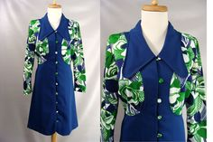 $58.88 #forsale #BradyBunch Costume. Carol, Marcia, or Jan Brady #Halloween #Costume. #vintage #60s #70s Blue Green Short #Mod Party Dress. size S M 4 6 8 by #wardrobetheglobe on #Etsy