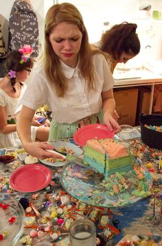 rookiemag: Masquerade Ball Some of the fun at our Halloween costume party last weekend. you don't understand this cake had about SEVENTY LAYERS