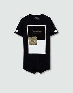 印字迷彩 T 恤 - T 恤 - 男装 - PULL&BEAR 中国