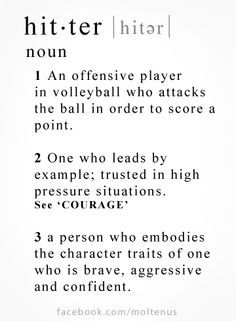 volleyball quotes for hitters - Google Search