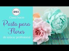 Cómo hacer pasta para flores en azúcar Súper fácil! Natalia Salazar - YouTube