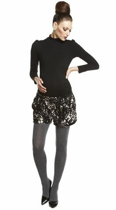 I want to be pregnant again just to rock out this fabulous outfit at our holiday parties! 1215-maxwell-turtleneck-black