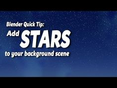 Blender Quick Tip: Create Stars Using Nodes - YouTube