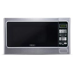Bella 1.1 Cu. Ft. 1000 Watt Microwave Oven - Silver, Light Silver