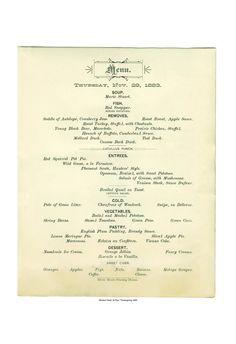 Windsor Hotel, St Paul, 1883 Thanksgiving Menu, Cool Culinaria 19th Century Victorian menus, Old American Menu | Cool Culinaria USA
