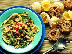 Pasta, courgette, mashrooms..