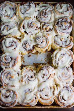 The most delicious and easy Cinnamon Roll recipe!  Just the right amount of cinnamon, sugar and frosting!  |  mynameissnickerdoodle.com