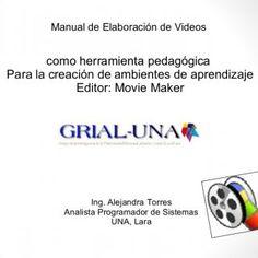Manual de Elaboración de Videos como herramienta pedagógica Para la creación de ambientes de aprendizaje Editor: Movie Maker Ing. Alejandra Torres Analista. http://slidehot.com/resources/tutoriales-de-video-i-simposio-una-lara-participa.55316/