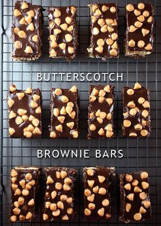 Butterscotch Brownie Bars by Bakerella,