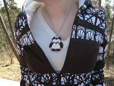 owl pendant and jacket, 2008