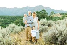 Great family portrait in the mountains of Utah.  Lovely setting and cute fam!