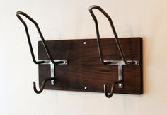 Double Handmade Helmet Rack & Jacket Hook by EdwardRichie on Etsy