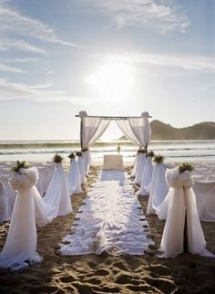 I want more neutral colors within with simple beach wedding setup. Beach Wedding Setup, Simple Beach Wedding, Beach Wedding Aisles, Beach Wedding Photos, Wedding Set Up, Beach Wedding Inspiration, Beach Ceremony, Beach Wedding Decorations, Perfect Wedding