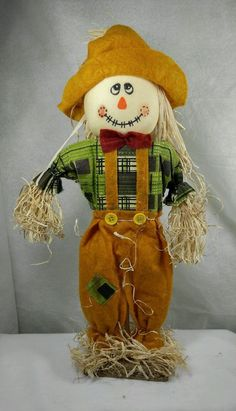 "Thanksgiving decoration Scarecrow Autumn Fall cloth straw Figurine Doll 14"" #ZestGradenLimited"