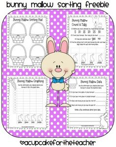 Grab your copy of these FUN bunny marshmallow activity sheets!Here's what's inside:-sorting mat-count