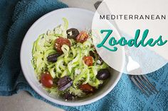 These mediterranean noodles are a quick easy lunch when you are trying to eat…