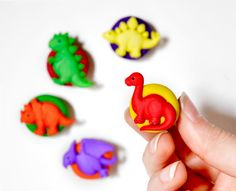 Dinosaur Magnets Childrens Room Decor in Bright by CreaShines on Etsy