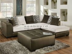 Shimmer Bronze 2 pc RAF Sectional 835 features loose back pillow design, Solid wood frame, covered in a shimmery leather-like vinyl & super soft microfiber.