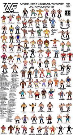 WWF Hasbro colour checklist