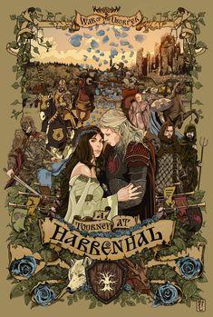 Game of Thrones Fan Art : The Tourney of Harrenhal - Rhaegar and Lyanna Dessin Game Of Thrones, Arte Game Of Thrones, Game Of Thrones Artwork, Game Of Thrones Fans, Valar Morghulis, Valar Dohaeris, Rhaegar Y Lyanna, Fanart, Got Anime