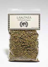 Lakonia brand wild Greek oregano, dried herb; .53 oz., $10.00