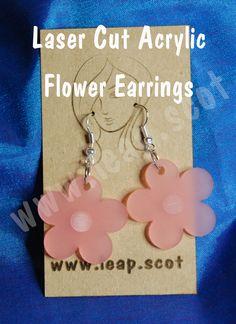 Laser cut acrylic flower earrings #earrings #jewellery #EasterWeekend #handmade #lasercut