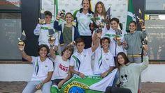 Daniel Sánchez, Carola Martínez, Antonio y Blanca Cueto, campeones