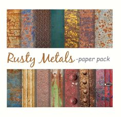 RUSTY OLD METALS Paper Pack Digital Download Paper by DigitalAlice