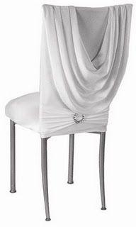 White Cowl Draped Chair Covers « Weddingbee Boards