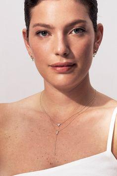 Solid Gold, Arrow Necklace, Fine Jewelry, Chain, Diamond, Necklaces, Diamonds, Jewelry