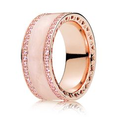 Official Pandora ROSE Pink Hearts of Pandora Band Ring from The Jewel Hut. Highest rated Pandora retailer - shop today and get FREE delivery. Pandora Band Rings, Pandora Rose Gold Rings, Pandora Bracelets, Pandora Jewelry, Pandora Pandora, Pandora Hearts, Bracelet Charms, Bangle Bracelet, Diamond Promise Rings