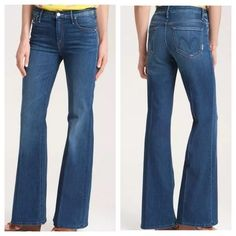 NEW Mother Denim - Mellow Drama Flare Leg Stretch Jeans, Medium Wash - 25 x 33 in Clothing, Shoes & Accessories, Women's Clothing, Jeans Mother Denim, Flare Leg Jeans, Leg Stretching, My Jeans, Best Stretches, Denim Fashion, Stretch Jeans, Bell Bottom Jeans