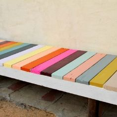 Painted bench, why settle for one color?