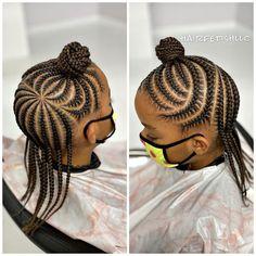 Kids Cornrow Hairstyles, Toddler Braided Hairstyles, Toddler Braids, Lil Girl Hairstyles, Black Kids Hairstyles, Natural Hairstyles For Kids, Braids For Kids, Natural Hair Styles, Baby Girl Hair