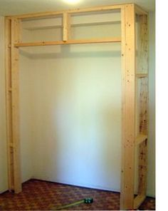 diy built in closet cupboard
