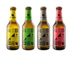 グリッドデザインがおしゃれなドイツの炭酸飲料のパッケージ。