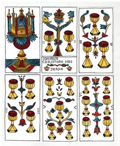 Hes -Derua Tarot, re-creating a Marseille deck