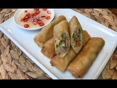 Filipino Vegetable Lumpia - Lumpiang Gulay with Ground Meat