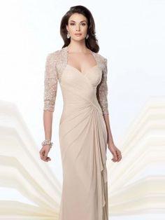 Sheath/Column Sweetheart Sleeveless Ruffles Sweep/Brush Train Chiffon Mother Of The Bride Dresses
