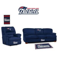 New England Patriots Microfiber Furniture Set at www.SportsFansPlus.com