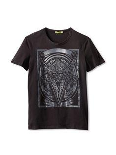 56114e77947 64% OFF Versace Jeans Men  s Graphic T-Shirt (Black)