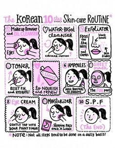 >> soko glam the korean 10 step pores and skin-care routine...