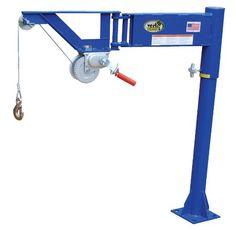 Vestil VAN-J Van Mount Manual Jib Lifter, Steel, 400 lb. Capacity, 10′ Cable Length, 46-1/16″ Height  http://www.cheapindustrial.com/vestil-van-j-van-mount-manual-jib-lifter-steel-400-lb-capacity-10-cable-length-46-116-height/