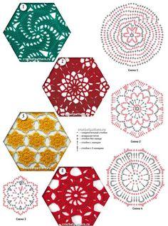 Numéro de pag. 87. Patterns-  Padrões- graficos - crochê.