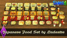 Ladesire's creative corner): TS4 - Japanese Food Set by Ladesire