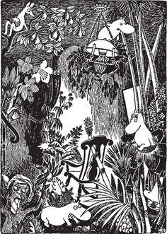 Classic style Moomin print book illustration by restandcomet Tove Jansson, Travel Cards, Library Card, Costume, Retro Art, Manga Illustration, Animal Drawings, Design Art, Cool Art