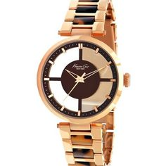 Women's Wrist Watches - Kenneth Cole New York Womens KC4766 Rose Gold Transparent Dial Round Watch ** See this great product.